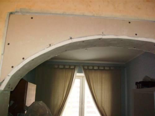 Дизайн арка из гипсокартона