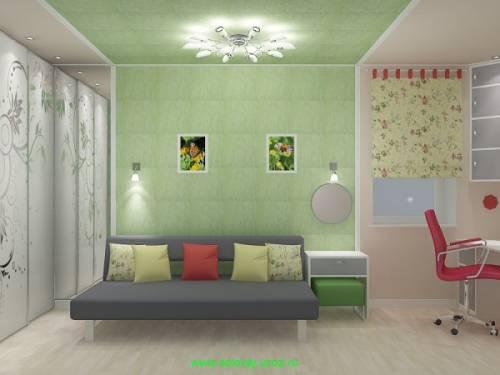Рисунки на потолке колером в детской